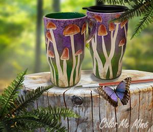 Aventura Mushroom Mugs