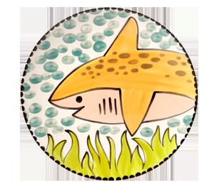 Aventura Happy Shark Plate